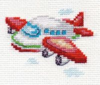 """Airplane"" - embroidery kit /Алиса/ 8 х 6 cm"