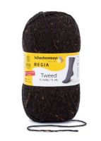 "Regia 6-ply Tweed 150g #00098 ""Anthracite tweed"""