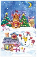 Gingerbread House  - embroidery kit /Andriana/ 10,5 x 16 cm