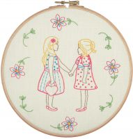 Friends Forever - embroidery kit /Anchor Ø20 cm