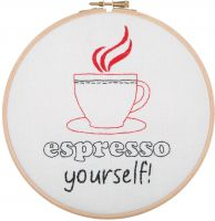 Espresso Yourself - embroidery kit /Anchor Ø20 cm
