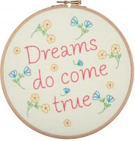 Dreams Do Come True - embroidery kit /Anchor Ø20 cm
