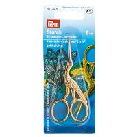 "PRYM Embroidery Scissors ""Stork"" - gold-plated"