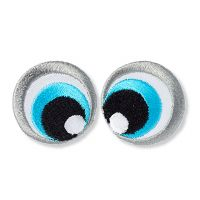 """Eyes"" - iron on applique /2.5 x 2.5cm /Prym/ 2 pieces"