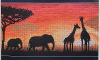 African Horizon - embroidery kit /Anchor 13 x 30 cm