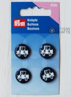 Button 2-hole,  black/white, 15 mm
