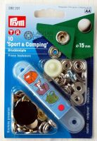"Buttons ""Sport & Camping"" with tool 15 mm, 10 pcs. - silver"