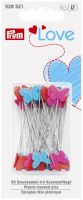 Quilter's flat pins (~50pcs) 50x0.60mm - hearts and butterflies