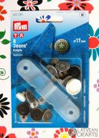 Buttons for jeans 17 mm, 8 pcs. - silver