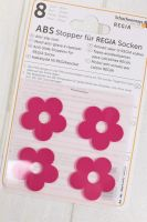 "Anti slip stoppers for Regia socks ""Pink Flowers"" 8pcs"