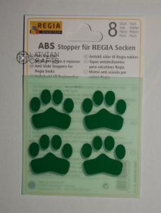 Anti slip stoppers for Regia socks 8pcs - Green ― Latvian Crafts