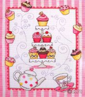 Cupcake - embroidery kit /Anchor 24 x 20 cm