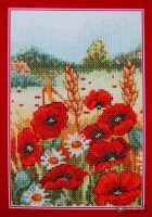 Poppy field- embroidery kit /Anchor 23 x 16 cm