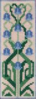 Art Nouveau Bluebell - Plastic Bookmark embroidery kit /Anchor 14,5 x 5,5 cm