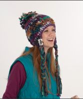 "Crochet Hat ""Aspen"" /Bravo Big Color&Boston Style"