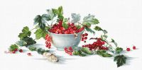 Red Currants - embroidery kit /Luca-S/ 49,5 x 22,5 cm