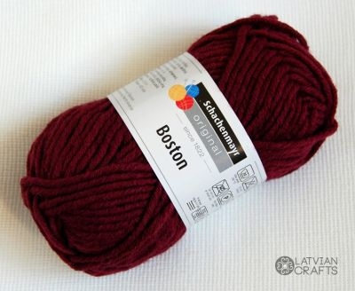 "Boston /Schachenmayr/ 50g #00132 ""Burgundietis"" ― Latvian Crafts"