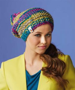 Knitted hat /Bravo Big Color ― Latvian Crafts
