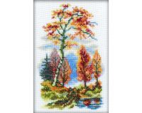 Autumn - embroidery kit /RTO/ 10 x 15 cm