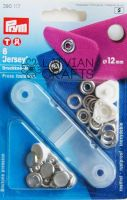 "Press fasteners ""Jersey"" pearl colour 12mm, 6 pieces"