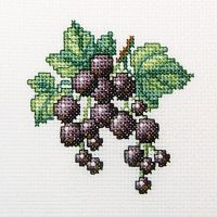 Blackcurrant - embroidery kit /RTO/ 10 x 10 cm