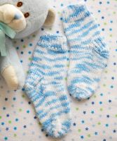 "Knitted Socks ""Alfie""/Red Heart Baby"