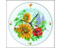 Flower clock - embroidery kit /RTO/ 30 x 30 cm