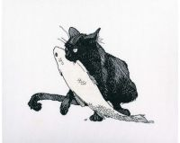 Among black cats III - embroidery kit /RTO/ 23 x 18 cm