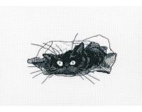 Among black cats - embroidery kit /RTO/13,5 x 8 cm