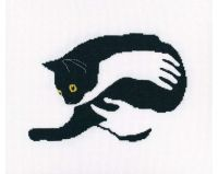 Among black cats IV - embroidery kit /RTO/ 20.5 x 14 cm