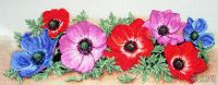 Spray of Anemones - embroidery kit /Anchor 47 x 18 cm
