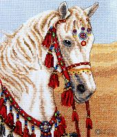 Arabian Horse - embroidery kit 19.5 x 16.5 cm /Anchor/