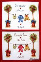Birth Sampler - embroidery kit 15 x 20 cm /Anchor/
