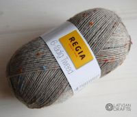 "Regia 6-ply Tweed 150g #00090 ""Light gray tweed"""