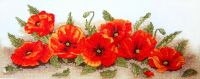 Spray of Poppies - embroidery kit /Anchor 18 x 47cm
