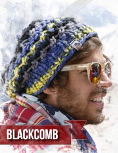 "Adīta cepure  ""Blackcomb"" /Bravo Big Color ― Latvian Crafts"