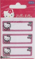 "Hello Kitty iron-on motif - Name Label Kit ""Cherry"" G"