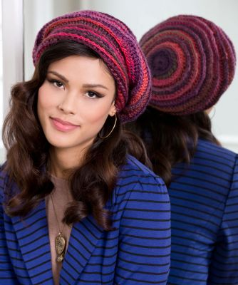 Slouchy Beanie Crochet Pattern - Unforgettable /Red Heart Boutique/ ― Latvian Crafts
