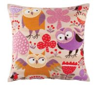 "Pillow top ""Wise owls"" - embroidery kit /RTO/ 44 x 44 cm"