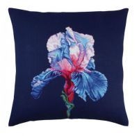 "Pillow top ""Proud iris II"" - embroidery kit /RTO/ 40 x 40 cm"