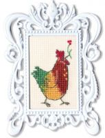 Cock - embroidery kit /RTO/ 3 x 5 cm
