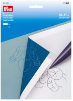 Transfer paper, white and blue/ Prym