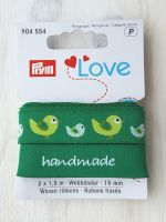 "Ribbon ""Handmade-Birds"" 15mm x 1.5m /pack of 2 pcs /Prym Love"