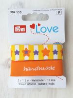 "Ribbon ""Handmade-Stars"" 15mm x 1.5m /pack of 2 pcs /Prym Love"