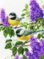 Charming Lilac - embroidery kit /RTO/ 29 x 38 cm