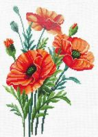 Poppy Flowers - embroidery kit /Andriana/ 24 x 32 cm