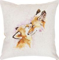 "Pillow ""Fox's love"" - embroidery kit /Luca-S/ 40 x 40 cm"
