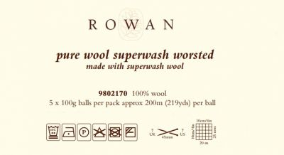 Pure wool superwash worsted /ROWAN/ 100g  - full color card ― Latvian Crafts