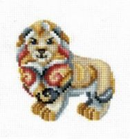 Figurines Lion - embroidery kit /Andriana/ 12 x 12 cm