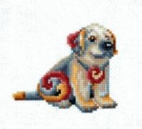 Figurines Dog - embroidery kit /Andriana/ 12 x 12 cm